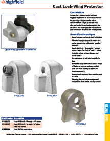 Cast Wing Valve Protector